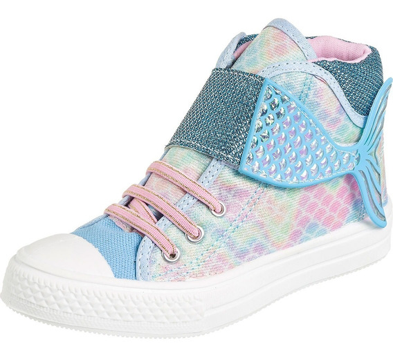 Tenis Star Kids Escama Calda Sereia Infantil Fashion