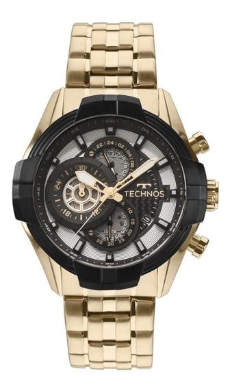 Relógio Technos Masculino Esportivo Dourado Js15ew/4p