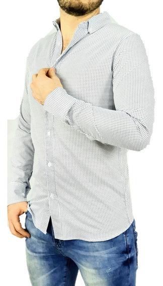 Camisa Hombre Manga Larga Slim