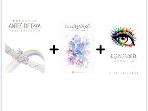 Combo X3 Libros.. Flor M. Salvador. Trilogía Boulevard