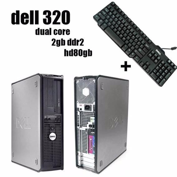 Cpu Dell 320 Dual Core 2gb Hd 80gb + Teclado Original