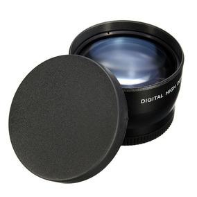 Super Lente Telefoto 55mm 2.2x Câmera Dsrl Sony Canon Nikon