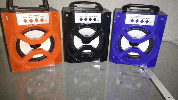 Caixa De Som Bluetooth Portátil Rádio Fm Micro Sd