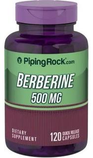 Berberine 500mg (berberina) - 120 Cáps - Importada - Última
