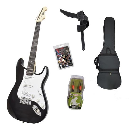 Guitarra Electrica Onas Strato N Funda Correa Cable Cuotas