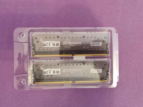 16gb Memória Ram 2x8 Crucial Ballistix X Ddr4 Rgb 3000mhz.