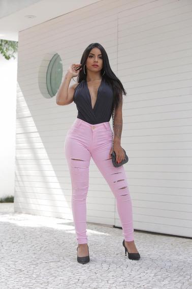 Calça Preta Skinny Extra Vip Modelo Lançamento Blogueiras