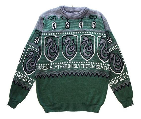 Harry Potter Slytherin Sweater This Is Feliz Navidad