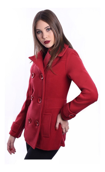Tapado Mujer Paño Saco Abrigo Nuevo Way Voo Campera Moda