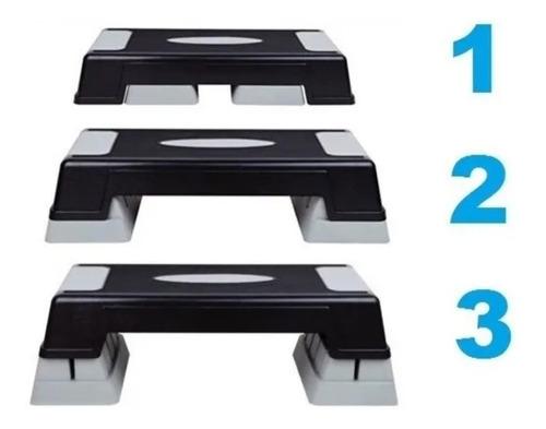 Imagen 1 de 10 de Banco Step De 3 Niveles  3 Altura Escalon Sportfitness