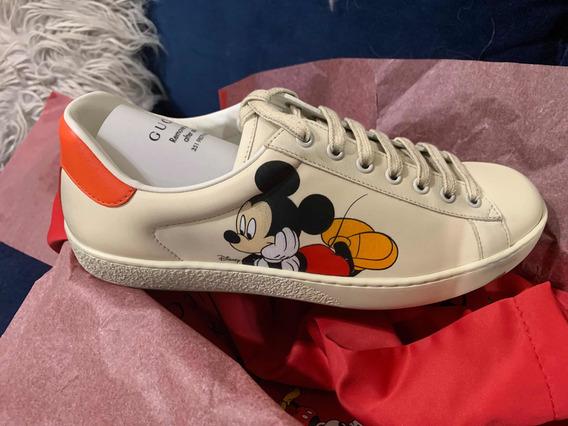 Tenis Gucci Disney Mickey Mouse Originales 9us 7mx Nuevos