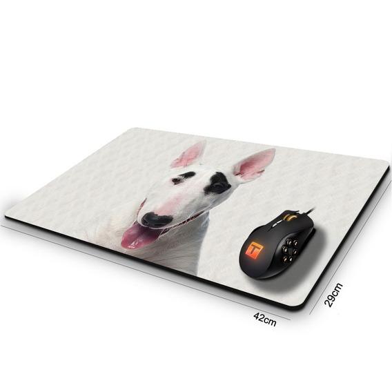 Mouse Pad Gamer Cachorro Bull Terrier Pirata 42cm