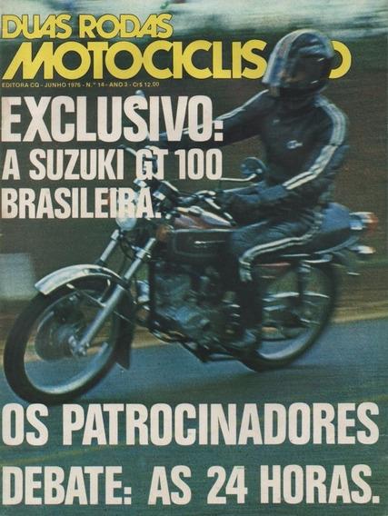 Duas Rodas N°14 Jun/1976 Suzuki Gt 100