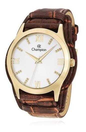 Relógio Champion Kit Feminino Com Semijóia Cn20346w