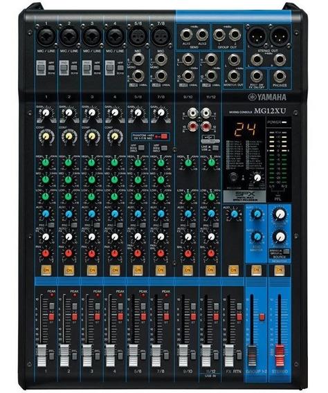 Mesa De Som Yamaha Mg12xu 12 Canais Mixer Nfe + Garantia