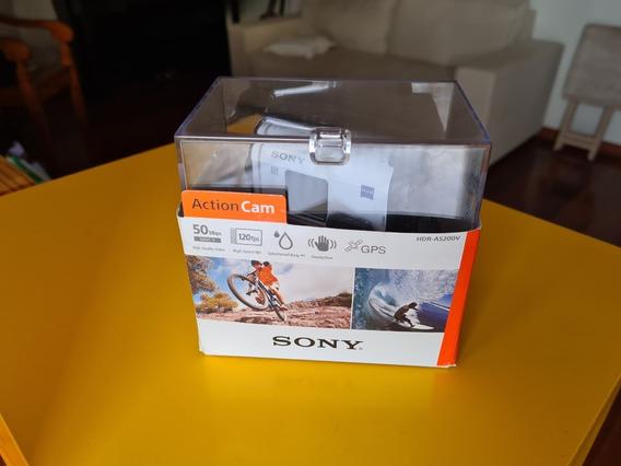 Sony Action Cam Hdr-as200v Filmadora Esportiva - Ação