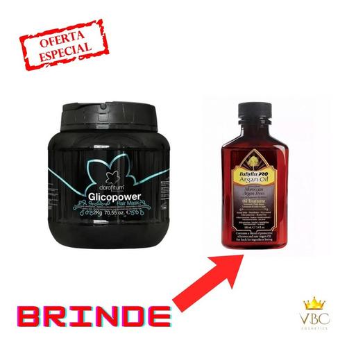 Imagem 1 de 5 de Glicopower Hair Mask 2kg Bomba De Nutrientes +  Brinde