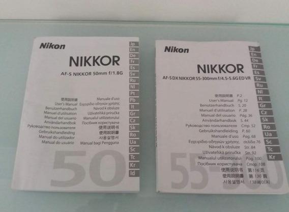 Manual Lente Nikon Afs50mm E Afs 55-300mm