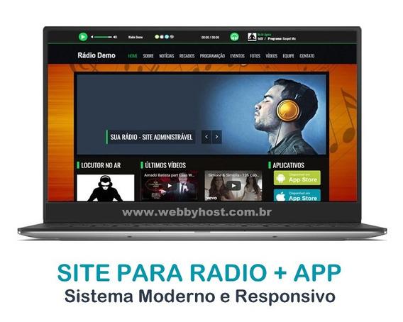 Radio Completa + Aplicativo E Publicação Na Loja Play Store