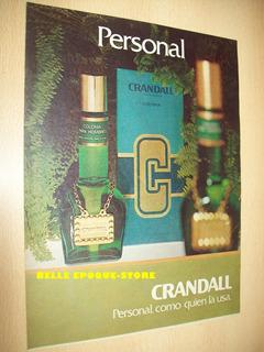 Clipping Antigua Publicidad Perfume Colonia Crandall Persona