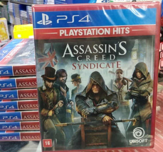 Assassins Creed Syndicate Ps4 Mídia Física Novo Lacrado