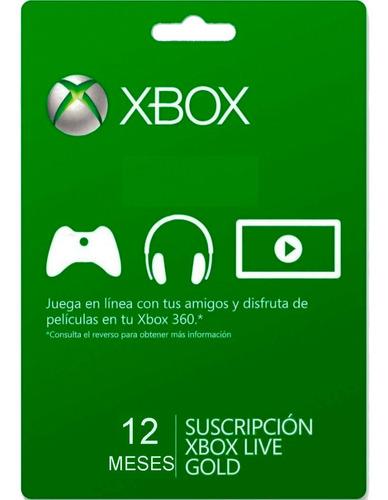 Xbox Live Gold 12 Meses Xbox 360 Oferta