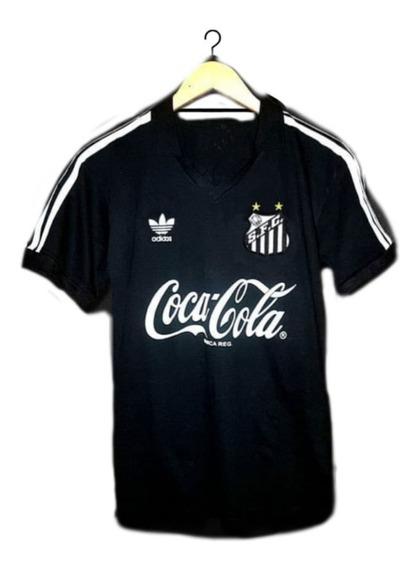Camisa Santos Retrô Anos 80 Preta