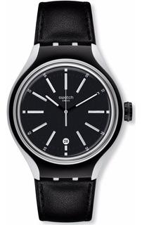 Reloj Swatch Hombre Aluminio Con Malla De Cuero Ne. Yes4003