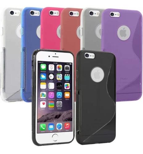 Tpu + Vidrio Templado iPhone 4, 5, 5s, 5c, 6, 6s, 7, Plus