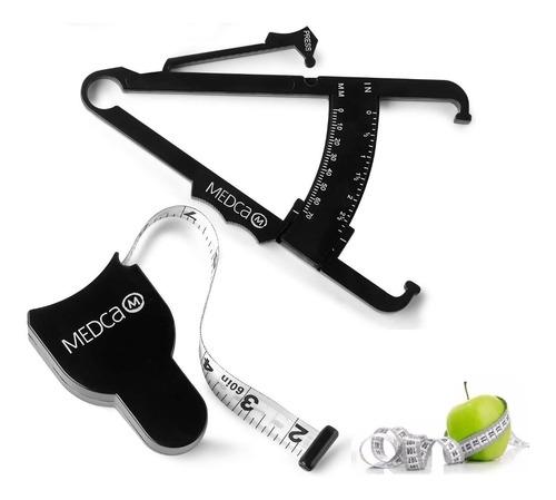 ¡ Kit Fitness Control Black Adipómetro + Cinta Métrica !!