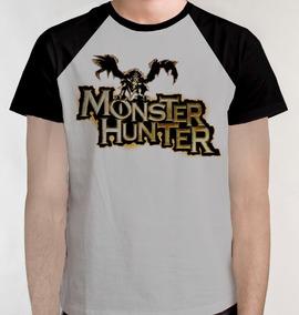 S/frete Monster Hunter Game Camiseta Raglan Camisa Blusa