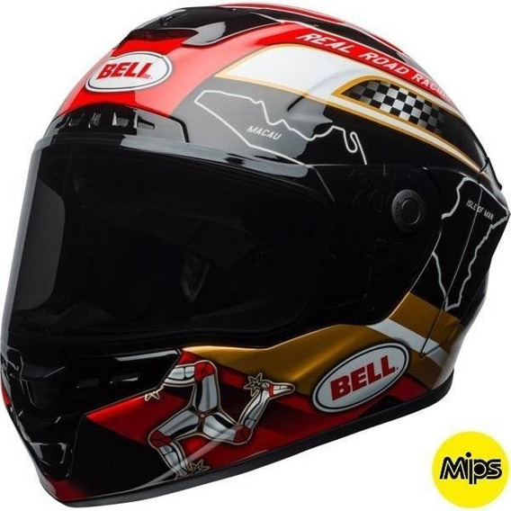 Capacete Bell Star Mips Isle Of Man C/ Viseira Transition 60