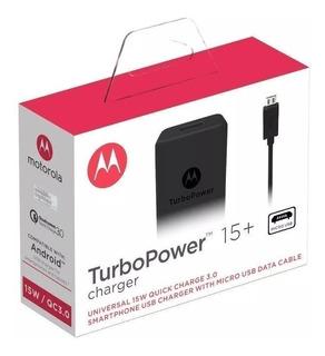 Cargador Motorola Turbo Power Charger 15+ Carga Rapida Qc3.0