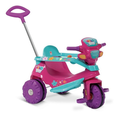Velobaby Bandeirante Passeio & Pedal Gatinha - Rosa