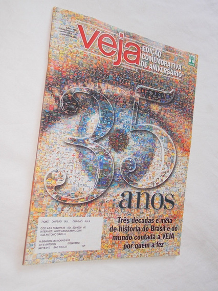 Revista Veja Edição Comemorativa De Aniversário 35 Anos