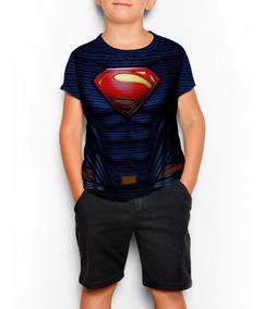 Remeras Superman Liga De La Justicia - Niño - Full Print