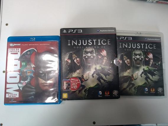 Injustice Gods Among + Dvd - Ps3 Original Em Mídia Fisica