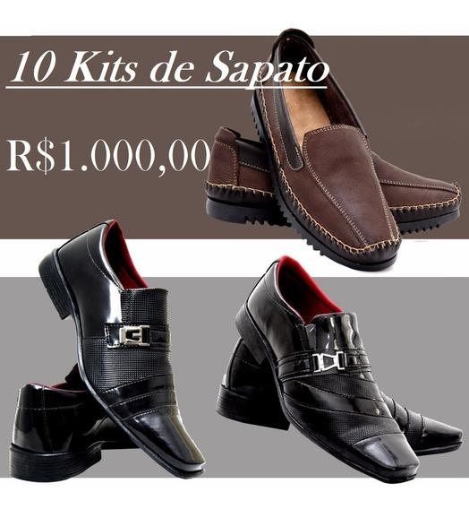 Kit Sapato Social Verniz + Sapatilha Couro Legítimo -2kits