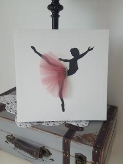 Cuadro Decorativo Silueta Bailarina
