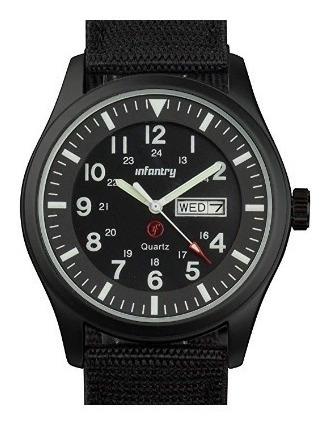 Reloj Para Hombre Infantry De Cuarzo Deportivo Black Negro