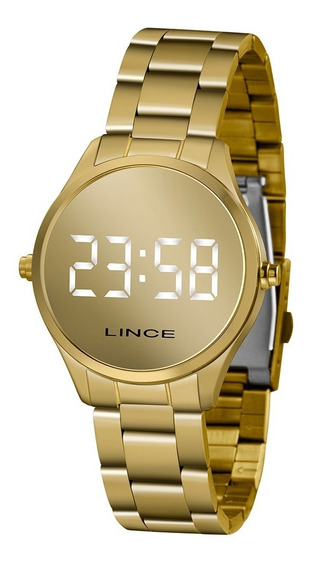 Relógio Feminino Digital Led Lince Mdg4617l