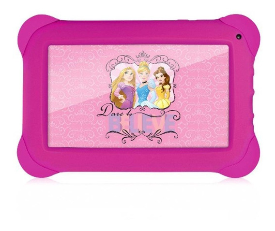 Tablet Infantil Princesas Multilaser 8gb 7 Wi-fi Quad Core