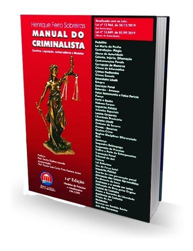 Imagem 1 de 1 de Manual Do Criminalista - 14°ed (2020)