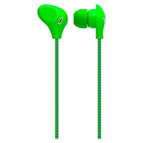 Fone Ouvido Auricular Com Microfone Verde Ph197 Multilaser