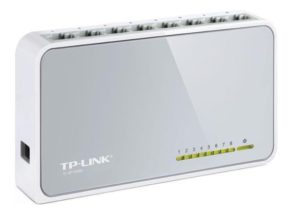 Switch Tp-link Tl-sf1008d 8 Puertos Rj45 10/100 Mbps Pc