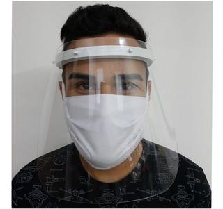 Máscara Proteção Facial Pano - Viseira Plástica Para O Rosto
