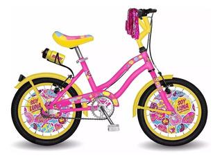 Bicicleta De Nena R16 Soy Luna De Disney // Envio Gratis