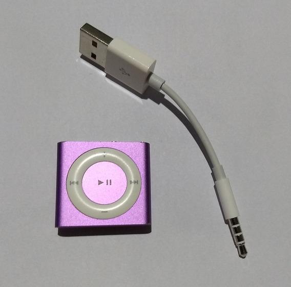 iPod Shuffle 4 Geração 2gb Lilás Cabo Usado Parcela - Rf4t0