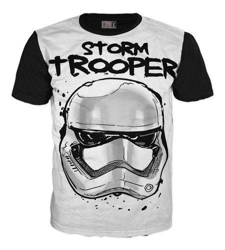 Camiseta Trooper Star Wars Galaxias Exclusivas Algodón