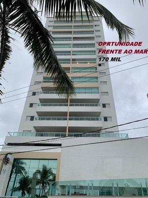 Oportunidade Apartamento Novo Frente Ao Mar Com 1 Dormitório À Venda, 52 M² Por R$ 170.000 - Balneário Flórida - Praia Grande/sp - Ap2910